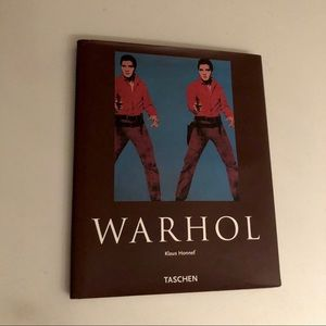 Free w/ purchase WARHOL hardcover decorative book